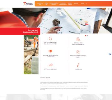 Tewan – budowa sieci telekomunikacyjnych